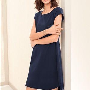 Eileen Fisher navy blue t shirt dress